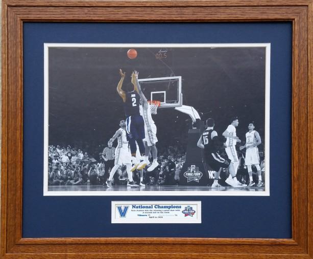 Villanova Wildcats Mens Basketball National Champions Kris Jenkins game winning shot 16 x 20 inches