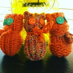 Owl Stuffed Figurine Trio