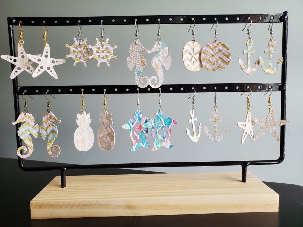 Beach Faux Leather Earrings