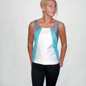 Elston Blue Organic Tank Top