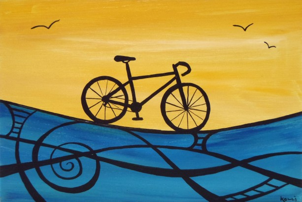 """Designer Bike 3"" original painting"