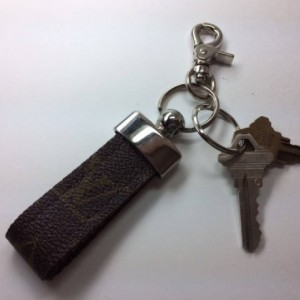 Louis Vuitton, Vuitton, Recycled, Reworked, Upcycled, Repurposed, Louis Vuitton Keychain, LV Keychain, Silver Keychain, Keepall, Neverfull