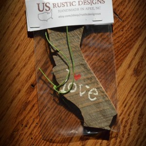 Rustic Custom California Ornament