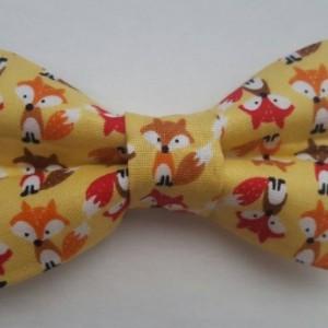Fox pet bow tie
