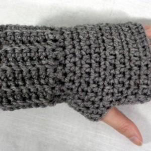 Gray texting gloves - texting gloves - grey fingerless - driving gloves - cycling gloves - fingerless gloves - biking gloves - winter gloves