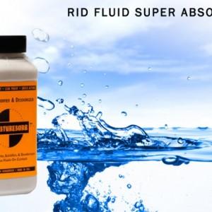 MOISTURESORB Fluid Super Absorbent, Solidifier & Deodorizer Granules: 50 lb.