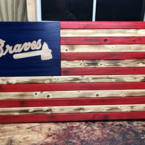 Braves Wooden Flag