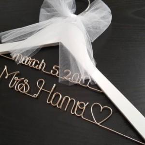 Wedding Dress Hanger.White 2 Line Wedding Hanger Mrs Hanger Wedding Dress Hanger Bride Hanger