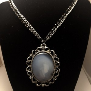 Gothic Oval Stone Necklace