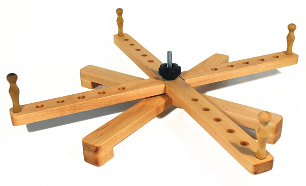 """Handcrafted Yarn Swift Tabletop Windmill or Amish Style Portable Maple Swift - 24"""""""