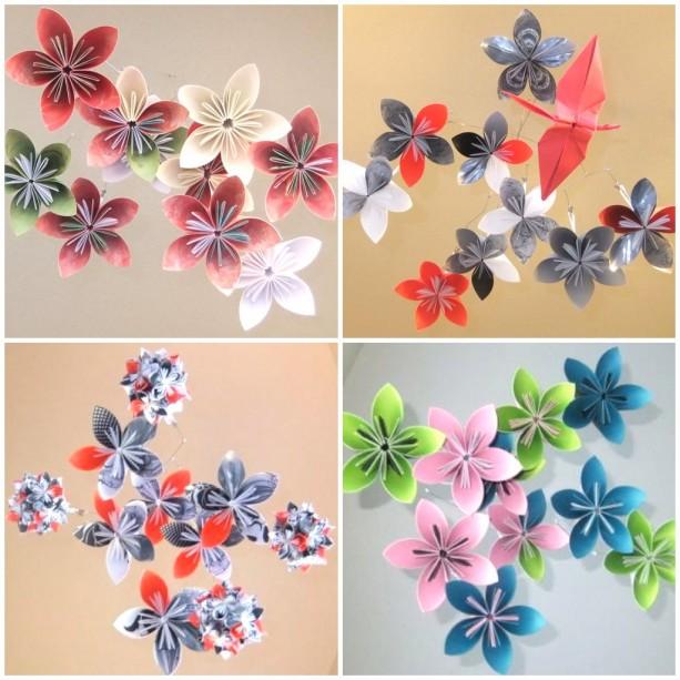 custom origami flower baby mobile aftcra