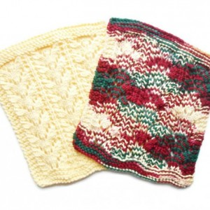 Hand Knit Dischloths, Set of Two