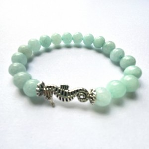 Aqua Seahorse Bracelet