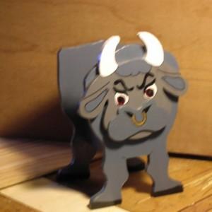 "Bull planter box, ""Angus"""