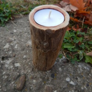 Cedar Limb Tea Light Holder