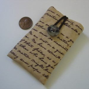 iPod nano case iPod nano sleeve President Abraham Lincoln's Gettysburg Address sepia brown cotton fabric