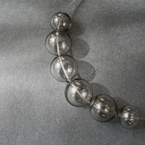 Blown Glass Necklace - Grey Transparent - Lightweight