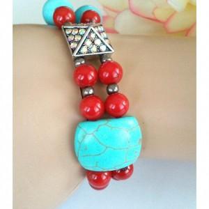 Casablanca - Double Strand Beaded Retro Style Bracelet ~ Retro Rockabilly Style Inspired ~ Retro Chic ~ Gift for Her