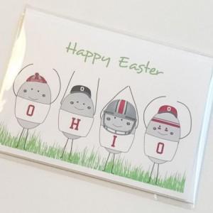 Set of three (3) OHIO Easter Egg blank greeting cards. Easter card. Blank greeting card. Ohio State. Ohio State Buckeyes. OSU card. Buckeye card. OHIO card.