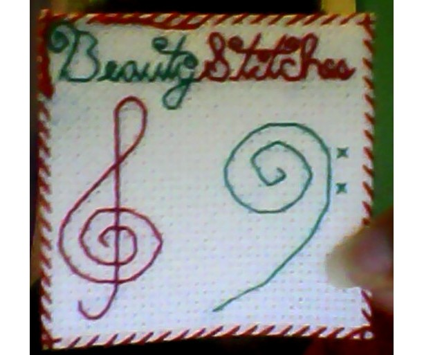 BeautyStitches Coaster Designs: Musicality