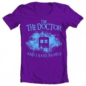 "Girls' Doctor Who ""I Save People"" Tee"