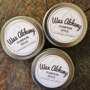 Pumpkin Spice Soy Candle / Three 4 oz Tins
