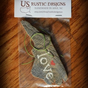 Rustic Custom North Carolina Ornament