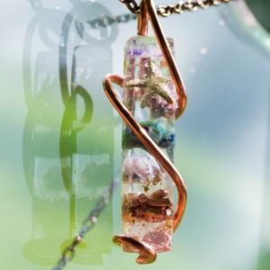 "Orgonite® Wand Pendant  - ""Orion's Unicorn"" Orgone Necklace - Crystal Artisan Jewelry"