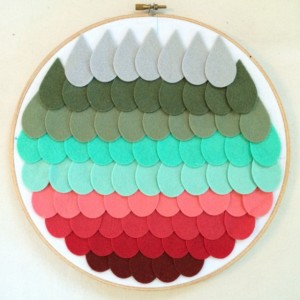 Winter Mint Ombre Nursery Hoop Art