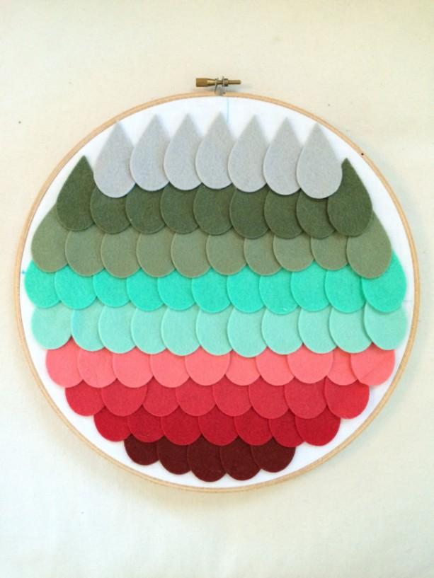 Winter Mint Ombre Nursery Hoop Art