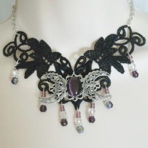Triple Moon Choker Necklace
