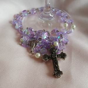 Girls Communion Rosary beads