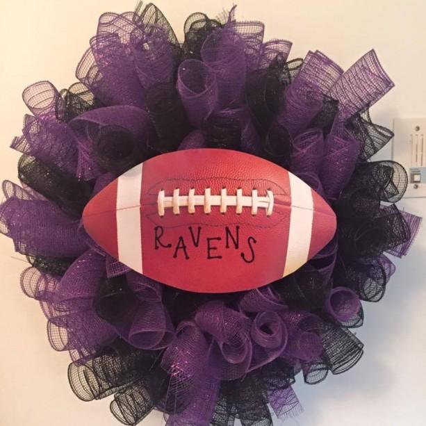 Baltimore Ravens Deco Mesh Wreath