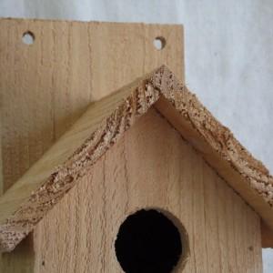 Cedar Birdhouse with Gabled Roof, Rustic Birdhouse, Cedar Bluebird House, Rustic Cedar Birdhouse