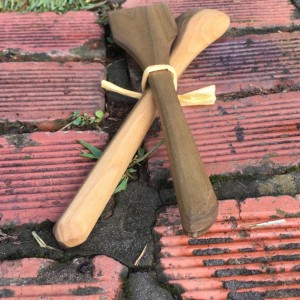 Wooden Spoon and Spatula Set - Reclaimed Poplar Wood - Ambidextrous
