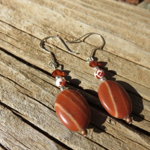 Sterling Silver and Stone Earrings