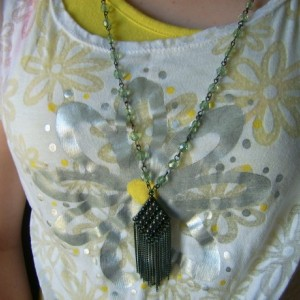 Smoked Fringe Pendant Necklace