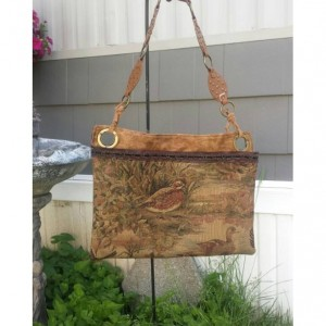 Handmade Upcycled OoaK  Wildlife Tapestry/Carpet Shoulder bag