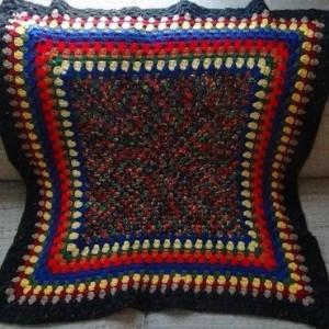 Throw Blanket - Crochet Lapghan - Kaleidoscope - OOAK