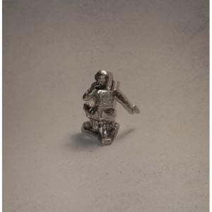 Radioman silver soldier