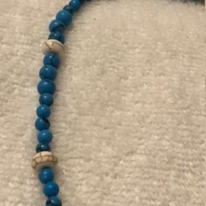 "Tribal Knowledge handmade beaded necklace 24"" long"