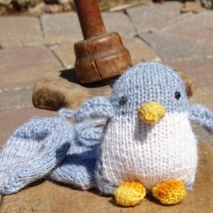 Alpaca Baby Mittens and Penguin, Winter Accessories, Organic Toy, Handmade