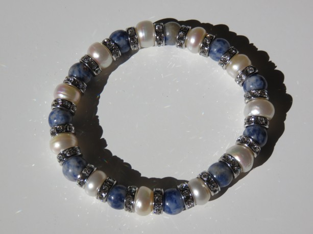 Diamonds & Denim Bracelet