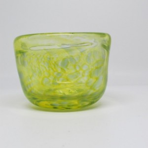 Small Handmade Yellow Glass Bowl