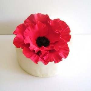 Red Poppy Cake Topper Flower Cake Topper Clay Wedding Cake Decor Wedding cake topper Flower Made to Order