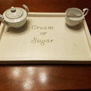 Cream or Sugar Serving Tray