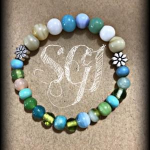 Ceramic Stone Stretchie Bracelet