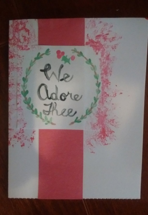 Set of 5 Hand made, Hand-painted Christmas Cards set with Holiday ...
