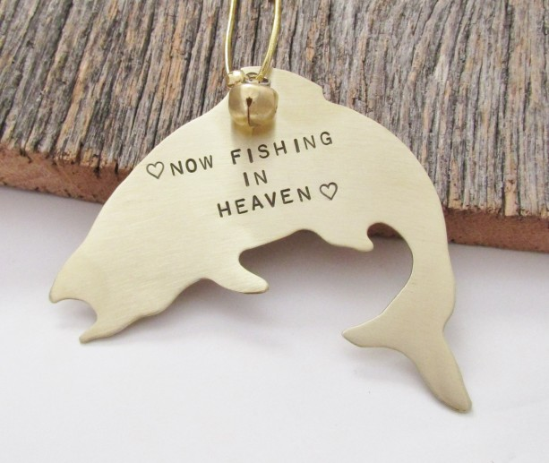 Memorial Ornament Dad Memorial Gift Christmas Bereavement Gift Loving Memory Ornament Brother Condolence Gift Loss of Son Fishing in Heaven