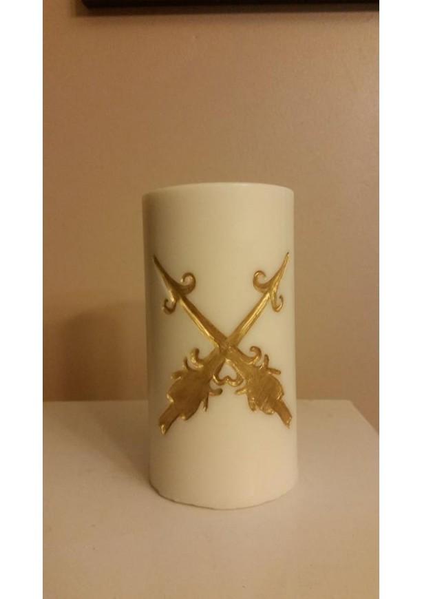 """3x6 """"Double Arrows"""" Pillar Candle"""
